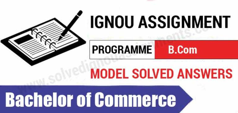assignment of ignou