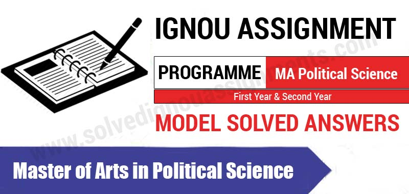 Ignou MA Political Science Solved Assignments, books, Study Material