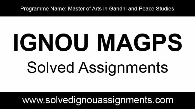 Ignou MAGPS Solved Assignments Download
